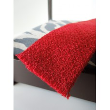 Basketweave Red Throw