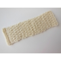 Knitted Throw - Cream Basketweave