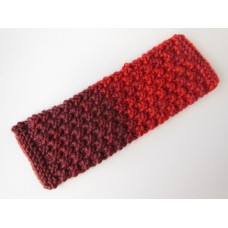 Knitted Throw - Ombre Red