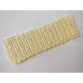Knitted Throw - Pale Yellow