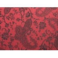 Black On Red Paisley Duvet