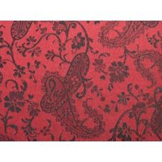 Black On Red Paisley Duvet