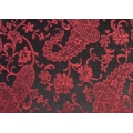 Red On Black Paisley Duvet