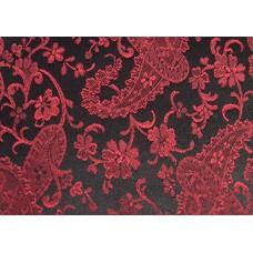 Red On Black Paisley Duvet