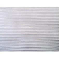 White Ribbed Stripe Duvet