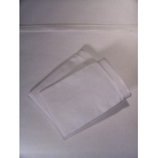 White Sheet Set with Wide White Satin Edge