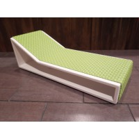 Aero Chaise - Green on White Base