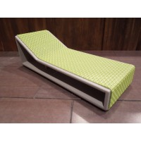 Aero Chaise - Green on Gray Base