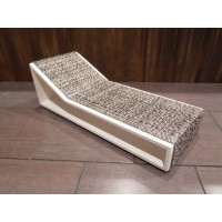 Aero Chaise - Stone on White Base