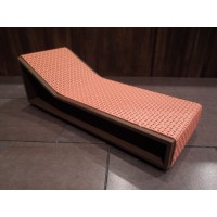Aero Chaise - Orange on Espresso Base