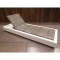 Cancun Chaise - Stone on White Base