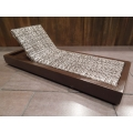 Cancun Chaise - Stone on Espresso Base