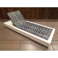 Cancun Chaise - Blue on White Base