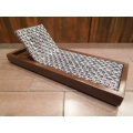 Cancun Chaise - Blue on Espresso Base
