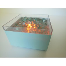 Short Outdoor Fire Pit in Blue
