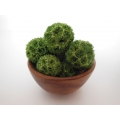 Green Clusters in Wood Planter