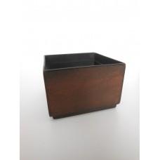 Short Square Rust Pot