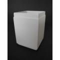 Tall Square White Pot
