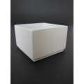 Short Square White Pot