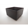Short Square Dark Steel Pot