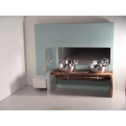 Modern Dollhouse Furniture M112 Pods Dual Vanity Bath