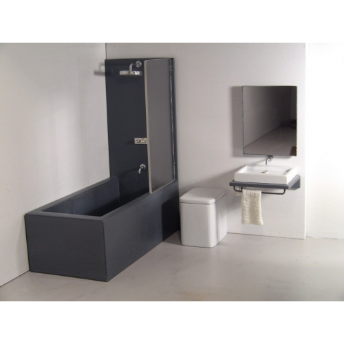 Modern dollhouse furniture m112 pods single vanity for How deep is a normal bathtub
