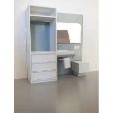 Single Vanity Bath Unit with Toilet and Wardrobe Unit