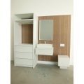Single Vanity Bath Unit with Toilet and Wardrobe Unit