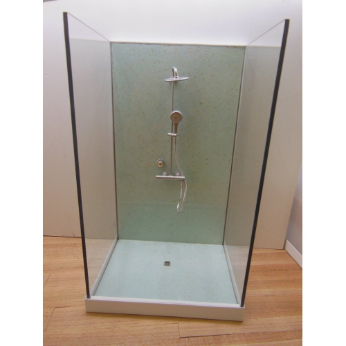 Modern Dollhouse Furniture M112 Pods Shower Stall Unit With Aqua
