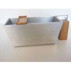 Adagio Aluminum Tub with Teak Spigot