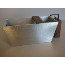 Adagio Aluminum Tub with Walnut Spigot