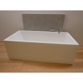 Toki Tub with Concrete Backwall