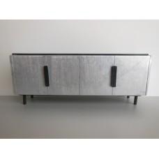 Tiburon Console in Silver/Espresso