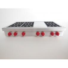 6 Burner Cooktop with Griddle