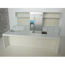 Frenton Kitchen in White with Pebble Back Wall