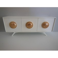 Jasper Console in White with Gold Accents