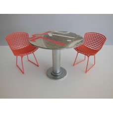 Bistro Art Table with 2 Chairs