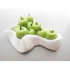 Green Apples in White Bowl