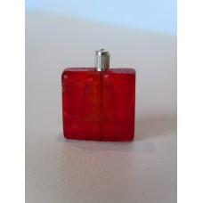 Glass Bottle in Red