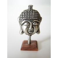 Small Buddha Head on Cherrywood Base