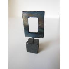 Gray Small Open Square Sculpture