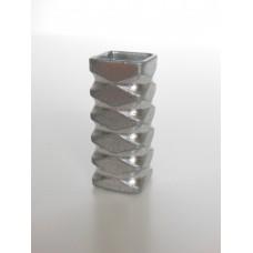 Metallic Square Tall Vase