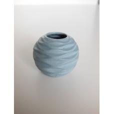 Blue Round Ripple Vase