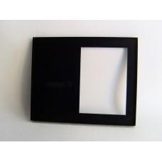 Picture Frame Blank - Offset Black