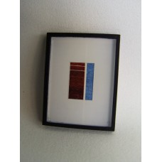 Picture Frame with Digital Art - Abstract Brown / Blue