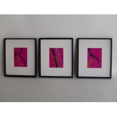 Picture Frame with Digital Art - Abstract Pink / Black