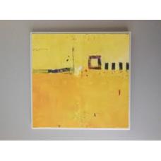 Yellow Abstract Print