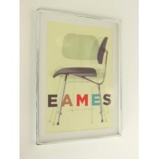 Eames Chair Print (Medium) White Frame