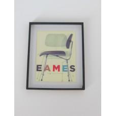 Eames Chair Print (Small) Black Frame