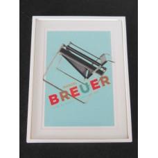 Marcel Breuer Chair Print White Frame